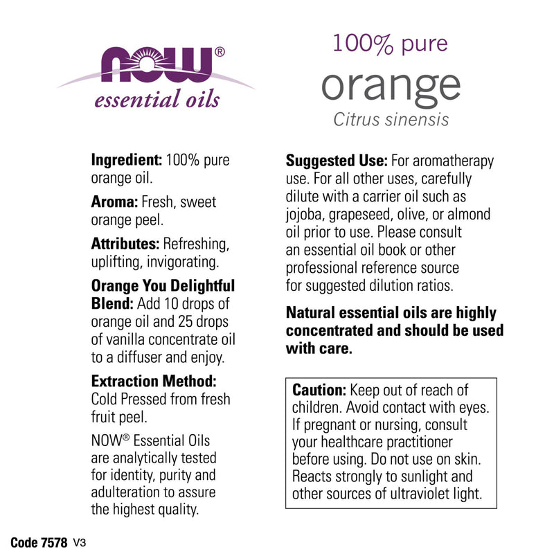 Now Foods Orange Oil - 4 oz.