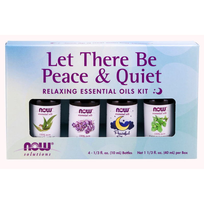 Now Foods Let There Be Peace & Quiet Essential Oil Kit  1/3fl.ozx4 (10mlx4)