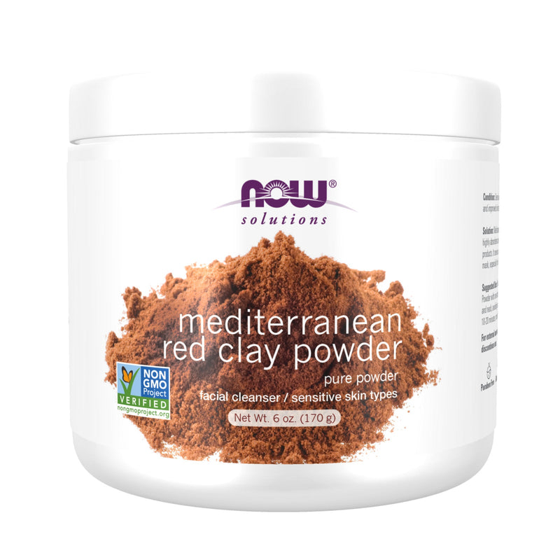 Now Foods 100% Red Clay Powder Moroccan - 6 oz. (170 g)