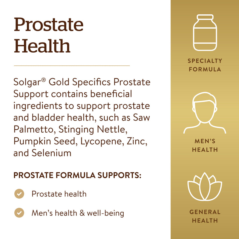 Solgar Gold Specifics Prostate Support - 60 Vegetable Capsules