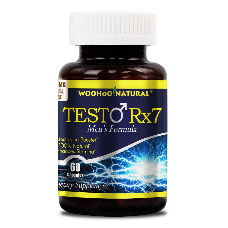 Woohoo Natural Testo Rx-7 Testosterone Booster Men's Formula 60 Capsules