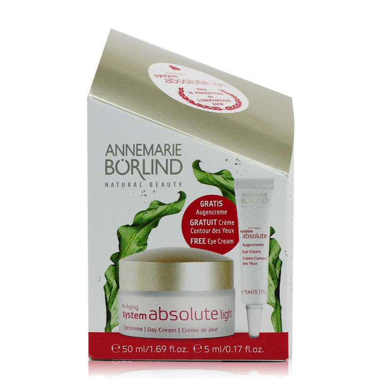 Annemarie Borlind System Absolute Anti-Aging Day Cream + Free Eye Cream, Holiday Gift Set - 50 ml + 5 ml