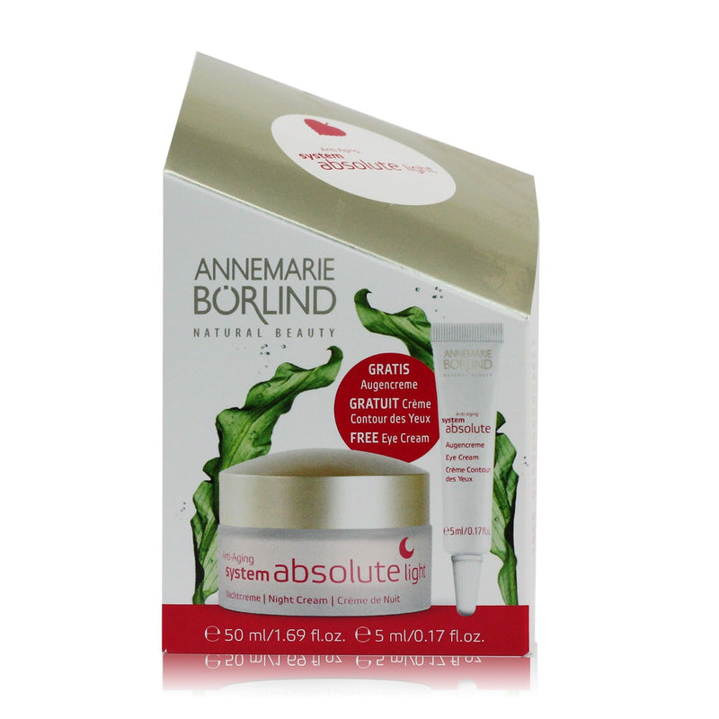 Annemarie Borlind System Absolute Anti-Aging Night Cream + Free Eye Cream, Holiday Gift Set - 50 ml + 5 ml