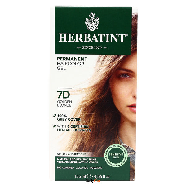 Herbatint Permanent Hair Color Gel - 7D Golden Blonde