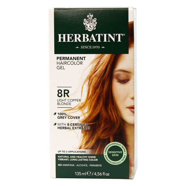 Herbatint Permanent Hair Color Gel - 8R Light Copper Blonde