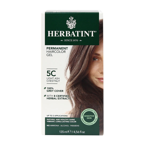 Herbatint Permanent Hair Color Gel - 5C Light Ash Chestnut
