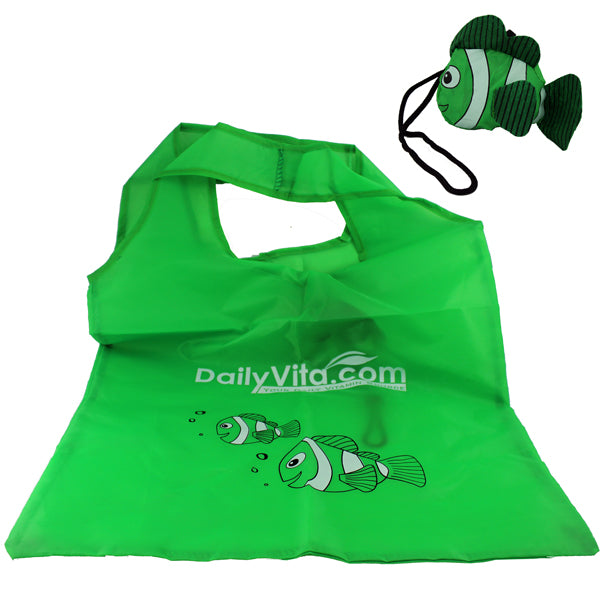 Cute Little Fish Fold up Reusable Shopping Tote/Shopping Bag