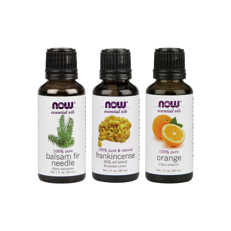 Now Foods Essential Oil Bundle: Men's Cologne Kit (Balsam Fir, Frankincense, Orange)