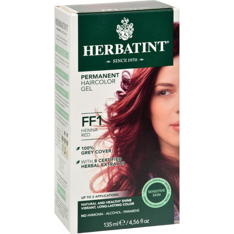 Herbatint Permanent Hair Color Gel - Henna Red FF1