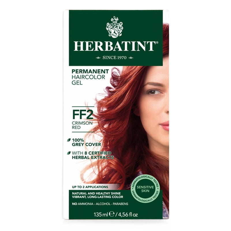 Herbatint Permanent Hair Color Gel - Crimson Red FF2