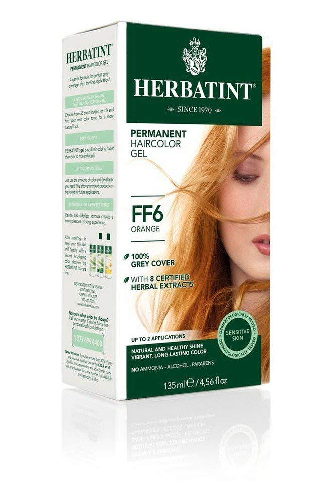 Herbatint Permanent Hair Color Gel - Orange FF6