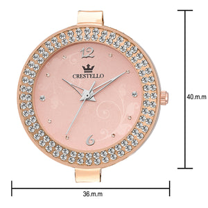 Crestello 6210RG-PCH Wrist Watch for Women