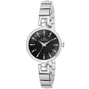 Swisstone JEWELS139-BLKSLV Wrist Watch for Women