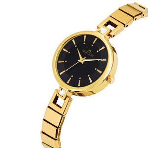 Swisstone JEWELS149-BLKGLD Wrist Watch for Women