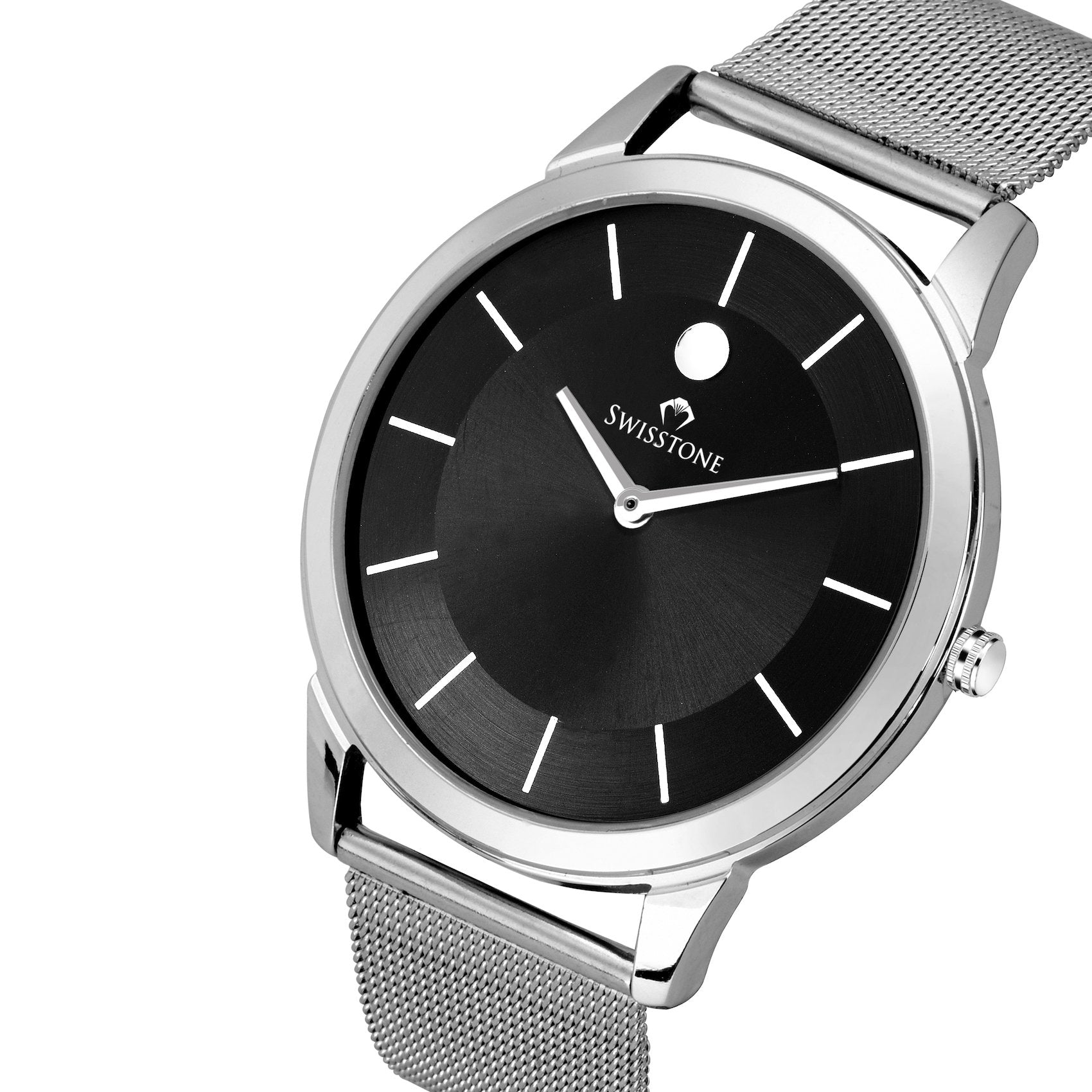 Swisstone SLIM193-BLK-CH Slim Wrist Watch for Men