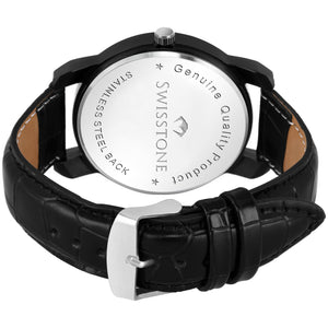 Swisstone SW050-BLK Wrist Watch for Men