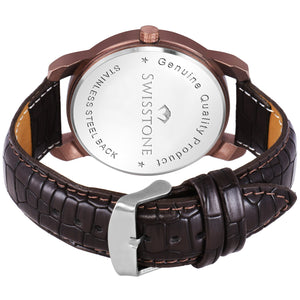 Swisstone SW050-BRWN Wrist Watch for Men