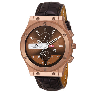 SWISSTONE SW235-BRWN Wrist Watch for Men