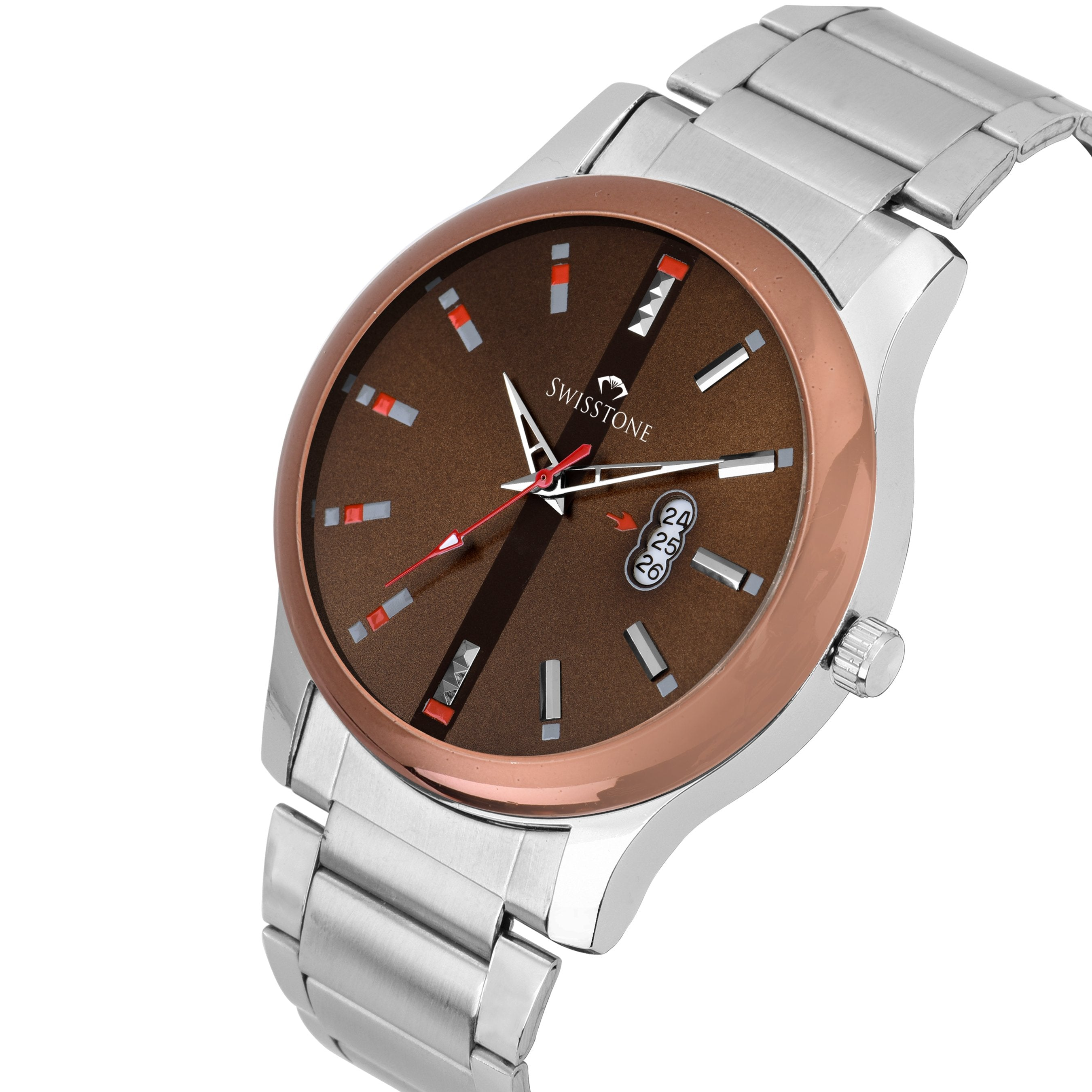 SWISSTONE SW475-BRW-CH Wrist Watch for Men