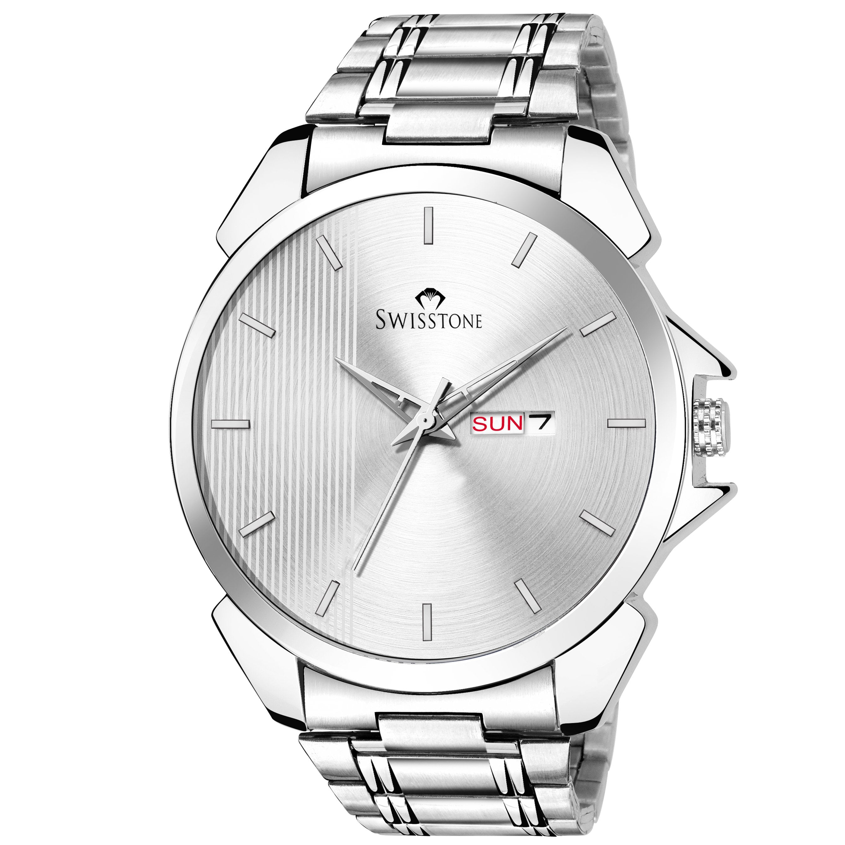 SWISSTONE SW480-SLV-CH Wrist Watch for Men