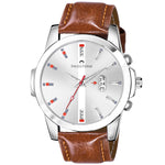 Load image into Gallery viewer, SWISSTONE WT475-SLV-BRW Wrist Watch for Men