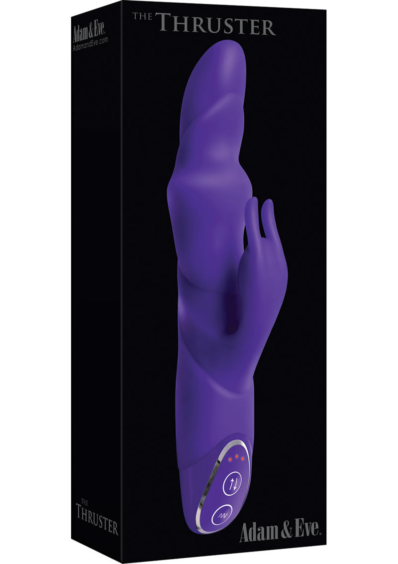 Adam and Eve Silicone Thruster Vibe Waterproof Purple 10 Inch