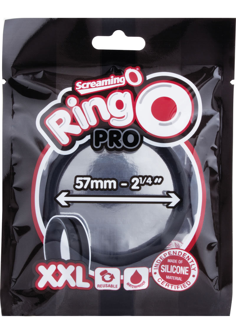 Ring O Pro Double Xtra Large Silicone Cockrings Waterproof Black 12 Each Per Box