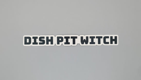Dish Pit Witches Sticker