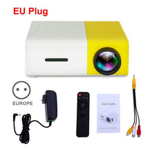 Lade das Bild in den Galerie-Viewer, Salange YG300 Pro Projector Mini LCD LED Proyector 800 lumens 320x240 Pixel Best Video Beamer for kids