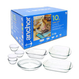 Anchor Hocking 10pc Bakeware Set