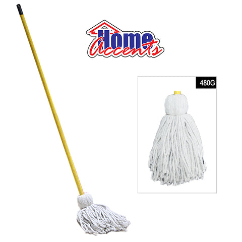 Home Accents Cotton Mop W/Stick 480gm