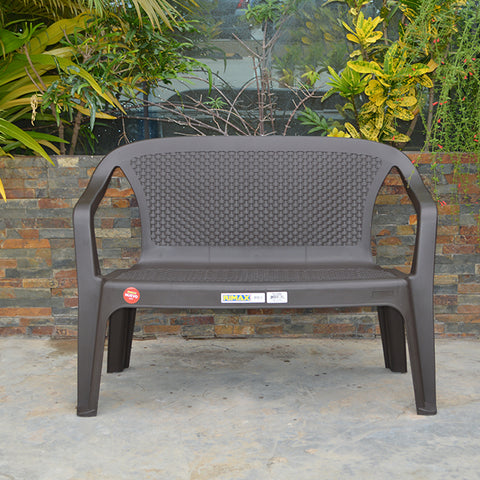 Rimax Resin Double Seat Brown