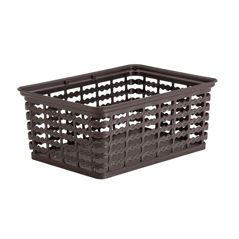 "Rimax 10"" x 7.5"" Medium Storage Basket (Brown)"