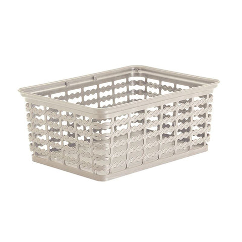 "Rimax 10"" x 7.5"" Medium Storage Basket (Biege)"