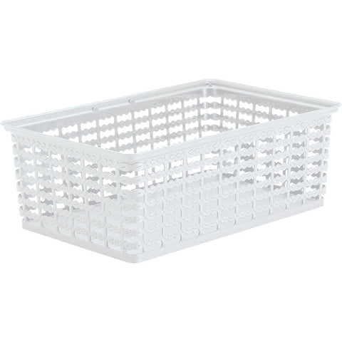 "Rimax 13.5"" x 9.5"" Large Storage Basket (White)"