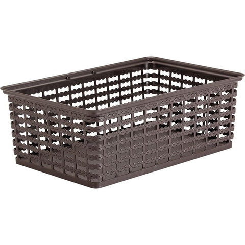 "Rimax 13.5"" x 9.5"" Large Storage Basket (Brown)"