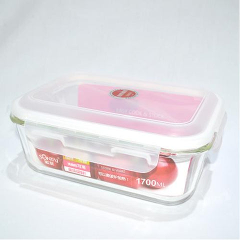 Glass Food Storage Container 1700 ml