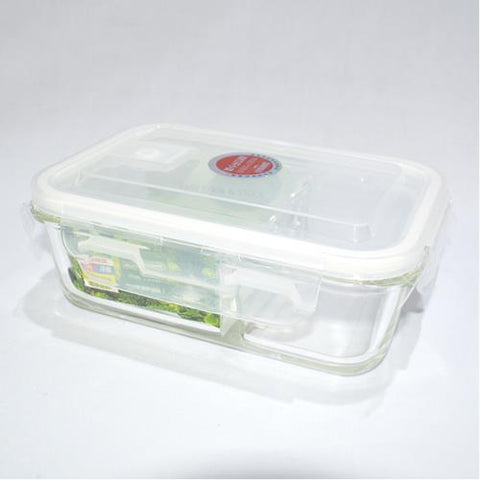 Glass 2 Section Food Storage Container 830 ml