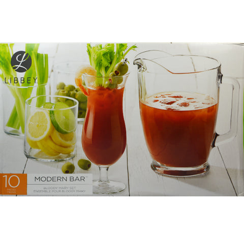 Libbey 10pc Bloody Mary Set