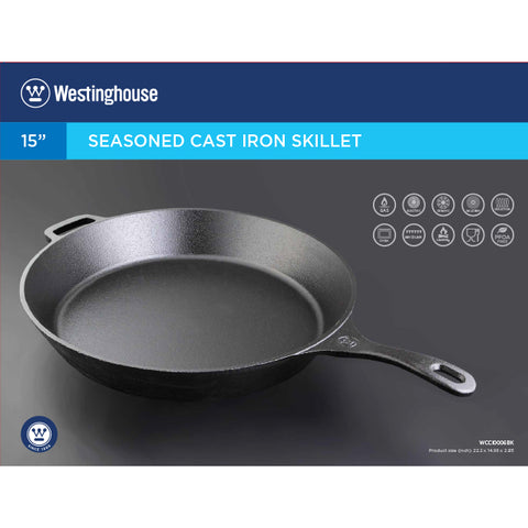 "Westinghouse 15"" Frying Pan Cast Iron"