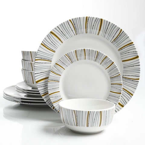 Gibson Home Classic Burst 12 Piece Dinnerware Set White  sc 1 st  D Rite Stuff - Shopify & Gibson Home Classic Burst 12 Piece Dinnerware Set White \u2013 D Rite Stuff