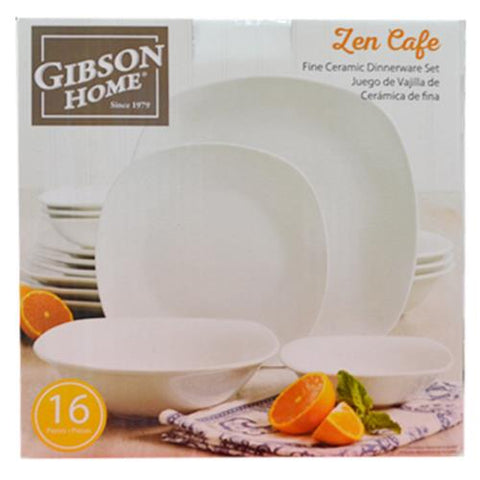 Gibson Zen Cafe 16pc Dinner Set