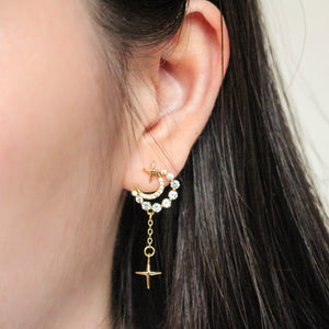 Sparkle Moon Earrings