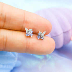 Purple Butterfly Studs