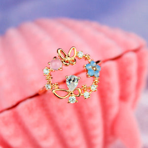 Butterfly Wreath Ring