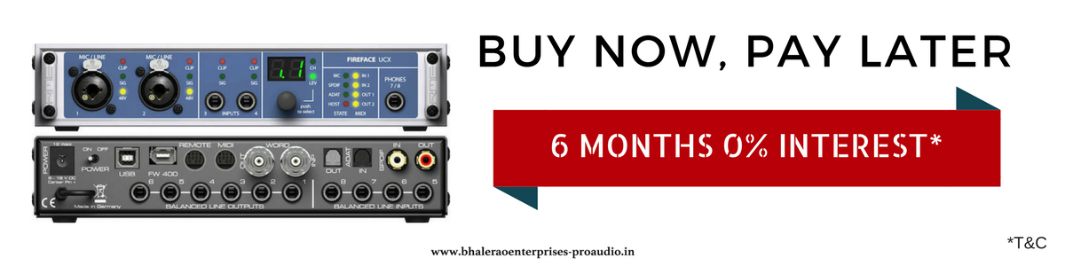 RME | Fireface UCX | Buy Now, Pay Later | India | Bhalerao Enterprises