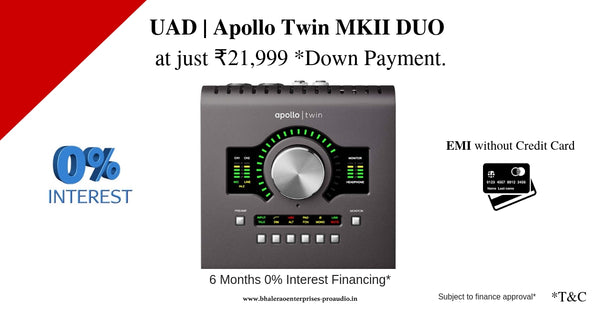 UAD   Apollo Twin MKII DUO at just *₹21,999 down payment