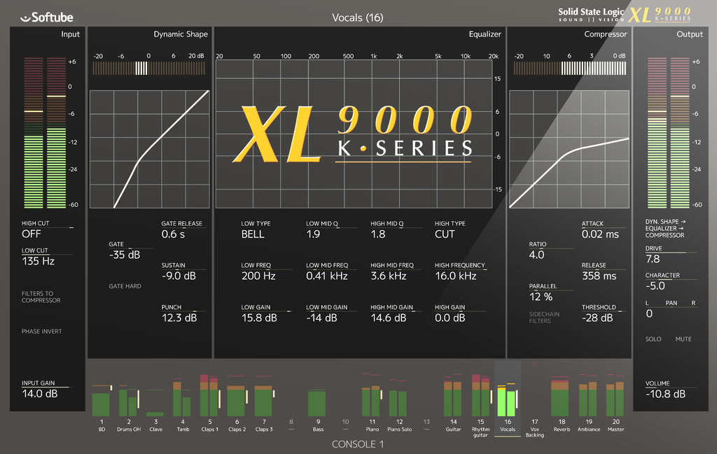 Solid State Logic XL 9000 K-Series for Console 1 | India | Bhalerao Enterprises