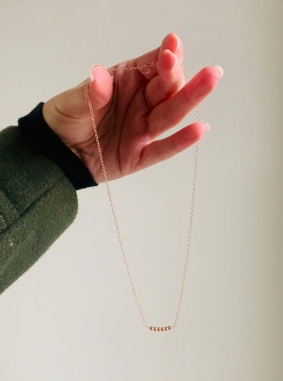 Rose-Gold Nugget Necklace