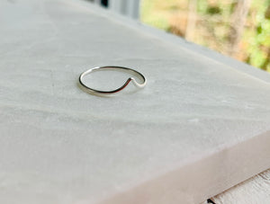 Drop Ring in Sterling Silver